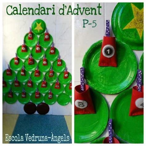 Calendari D Advent Manualitats Calendari D Advent I Arbre De Nadal Fet Amb Plats De