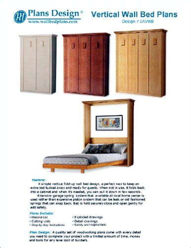 low cost diy murphy wall bed frame woodworking plans king