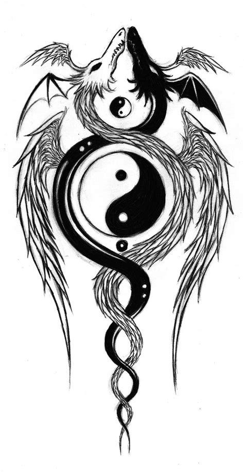 yin and yang dragons by aqvalung on deviantart