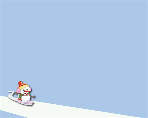 christmas snowman powerpoint background