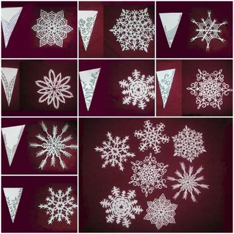 Make Paper Snow Flakes - paper snowflake flower pattern free template