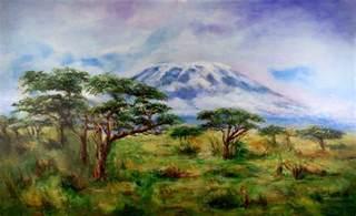 Spot Duvet Cover Mount Kilimanjaro Tanzania Painting By Sher Nasser