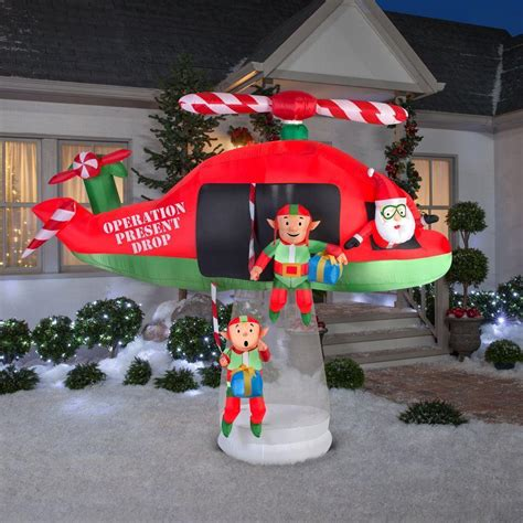 outdoor lighted santa outdoor inflatable blow up halloween yard decor led lights