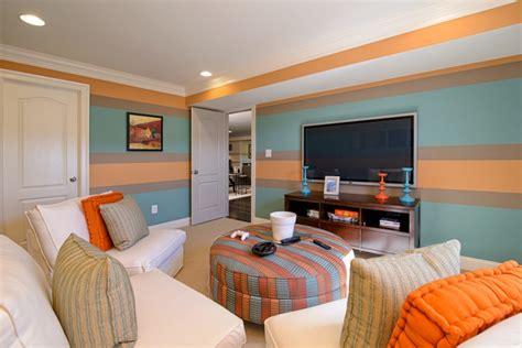 wohnzimmer ausmalen 65 wand streichen ideen muster streifen und struktureffekte
