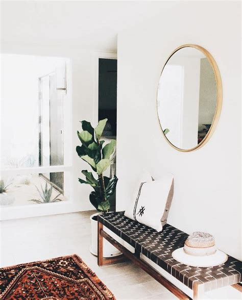 entry bench with mirror woven bench and mirror in entry way interior inspiration