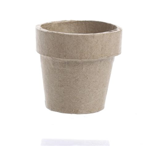 Paper Craft Flower Pot - paper mache flower pot paper mache basic craft