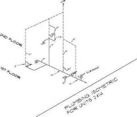 Isometric Plumbing Layout by Imma Plan Mnm Construction Drawings Northern Architecture
