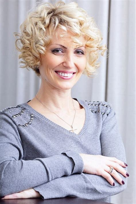 short curly perms for older women short haircuts for women over 50 with wavy hair