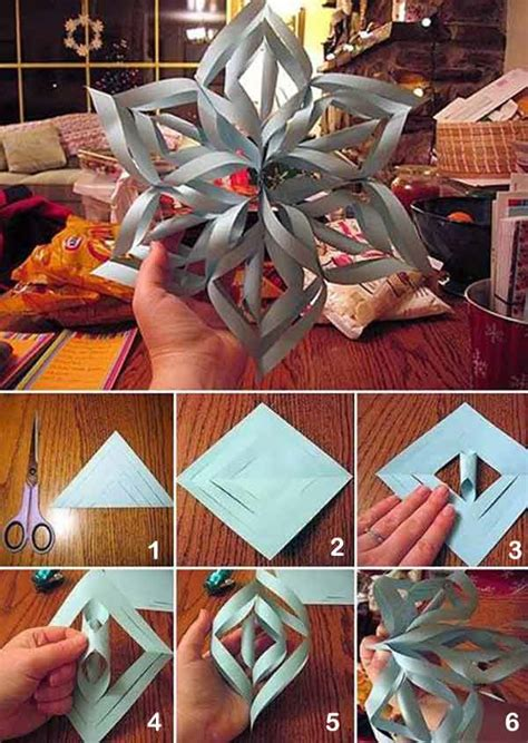 How To Make A Paper Snowflake 3d - diy ideas 3d paper snowflake home design garden