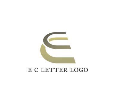 r logo design psd alphabet e c letter psd logo design vector
