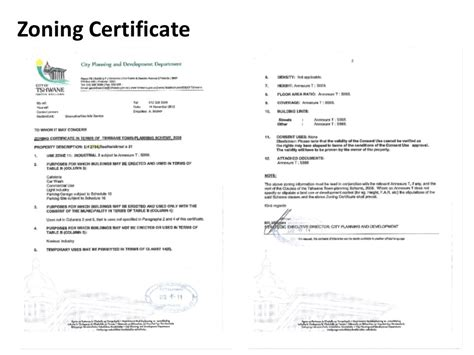 Request Letter For Zoning Certificate Zoning Certificate Sle Choice Image Certificate Design And Template