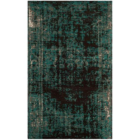 Teal And Brown Area Rugs Safavieh Classic Vintage Teal Brown 6 Ft 7 In X 9 Ft 2 In Area Rug Clv225a 6 The Home Depot