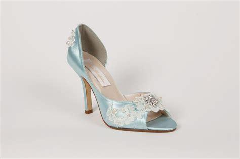 Light Blue Wedding Shoes by Wedding Shoes Light Blue Lace 314 00 Via Etsy It S