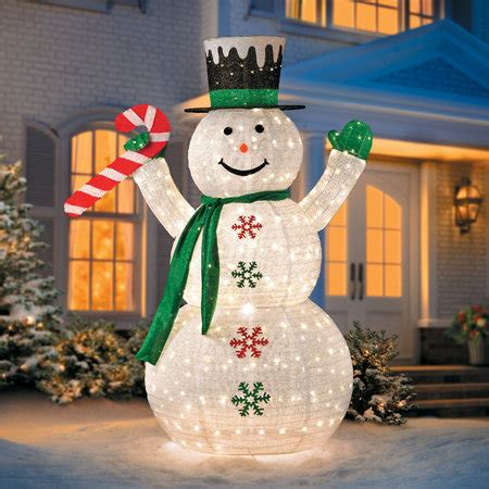 snowman decorations to make 6 collapsible snowman led outdoor decoration improvements