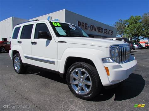 jeep liberty white 2008 stone white jeep liberty limited 55283575 photo 14