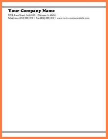 letterhead text template 9 basic letterhead template company letterhead