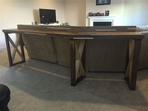 sofa table bar 1000 ideas about bar behind couch on pinterest behind