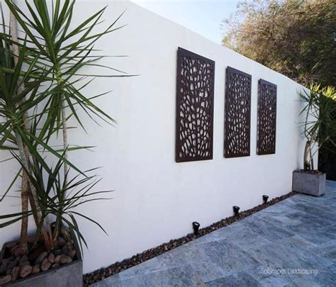 outdoor home wall decor 20 best collection of modern outdoor wall art wall art ideas