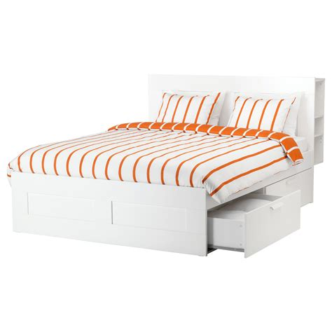 ikea storage bed frame brimnes bed frame w storage and headboard white lur 246 y