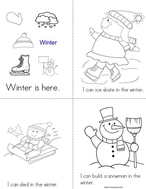 winter activity book for books winter is here book twisty noodle