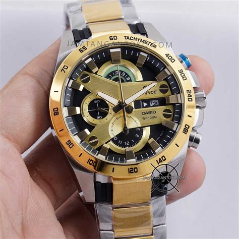 Casio Edifice Efr 550 Combi Gold harga sarap jam tangan edifice efr 540gd 1av gold silver