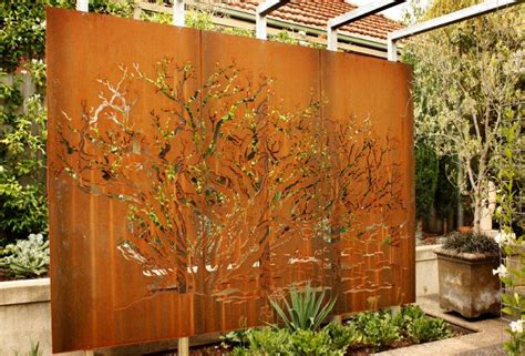 backyard wall art garden art corten steel pierre le roux garden
