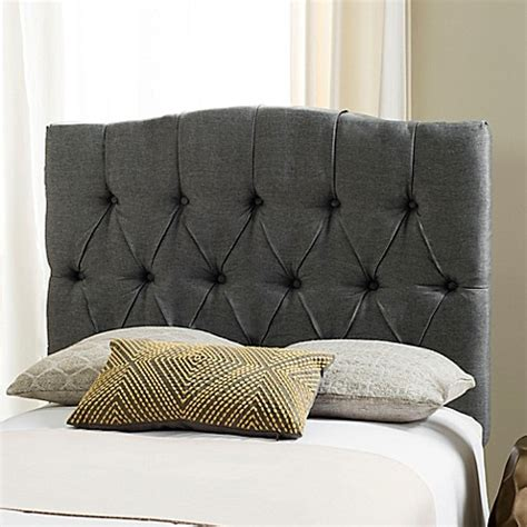 twin tufted headboard buy safavieh twin axel tufted headboard in grey from bed