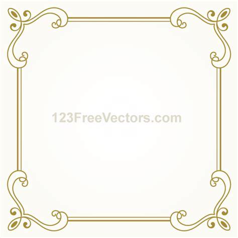 design of frame vector vintage gold frame design vector graphics by
