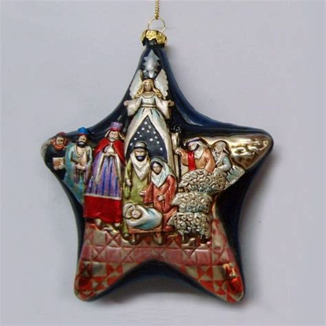 jim shore blown glass nativity star ornament 4026831 ebay