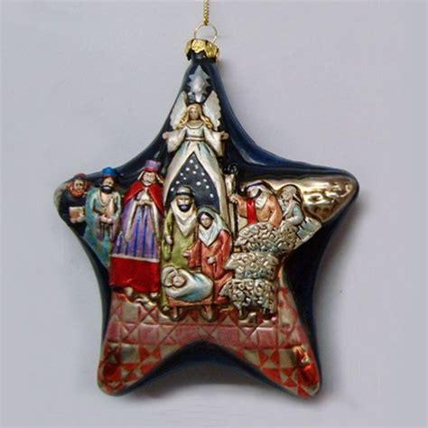 jim shore blown glass nativity star ornament 4026831 ebay