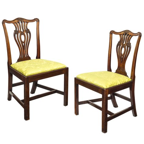 Antique Chippendale Dining Chairs Set Of Six 18th Century George Iii Mahogany Chippendale Dining Chairs For Sale