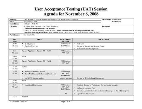 uat testing template template design