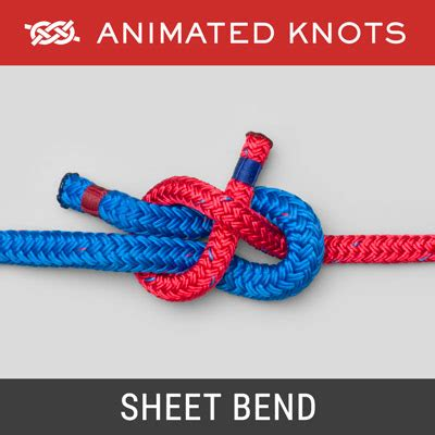 sheet bend how to tie a sheet bend using step by step