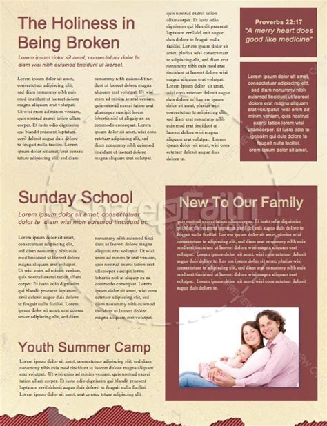 short term mission trip religious newsletter template