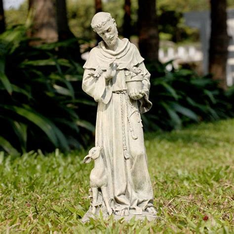 st francis statue napco marketing corporation outdoor statuary statues home decor