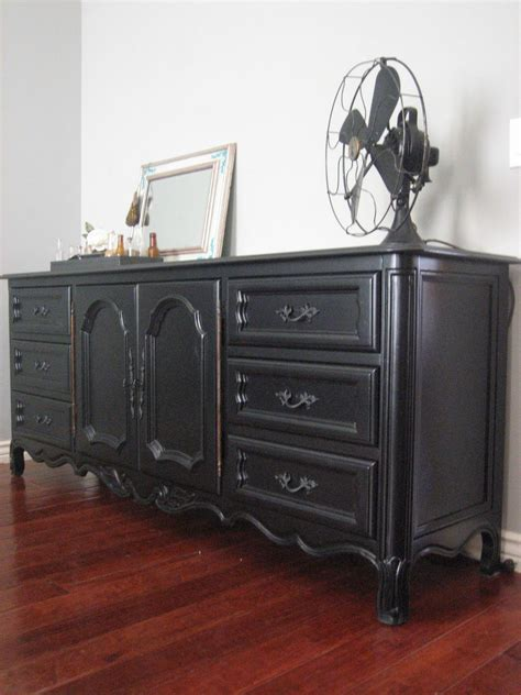 Painting A Dresser Black by European Paint Finishes Black Dresser A Bed
