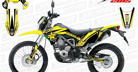 Decal Striping Sticker Klx Bf 009 Glossy jual decal motor striping rockstar selimutin klx bf makin hoooot