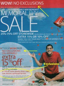 Macys Coupon Giveaway - 187 macy s memorial day sale no exclusions