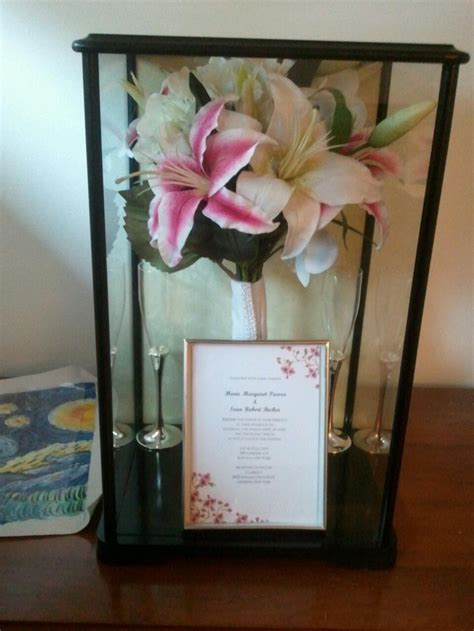 17 best ideas about bouquet shadow box on