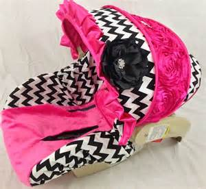Car Seat Cover For Newborn Chevron Infant Car Seat Cover With Bling And By