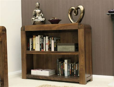 toronto walnut low bookcase 2ft 6 oak world