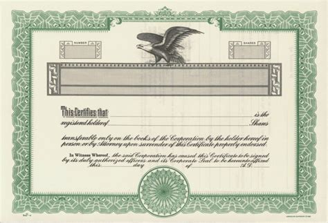 blank stock certificate template free blank stock certificate free printable documents