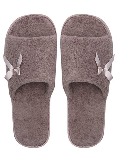 open toe house shoes open toe slippers women george at asda