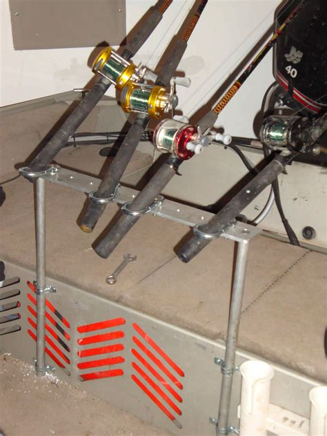 homemade fishing rod holders for boats homemade rod holder system catfishing texas fishing forum