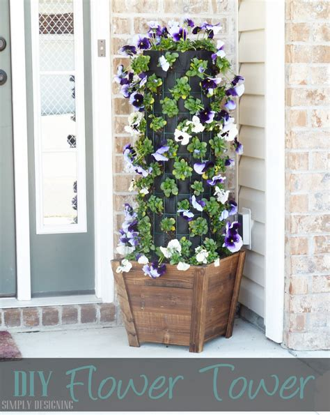 flower tower planter diy flower tower part 1 digin heartoutdoors sponsored