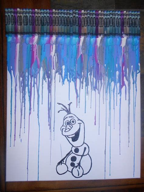 disney s frozen themed melted crayon art frozen inspired melted crayon painting disney melted