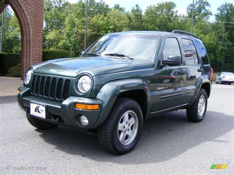 black jeep liberty 2002 2002 shale green metallic jeep liberty limited 4x4
