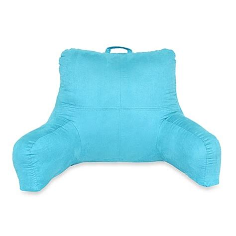 faux suede backrest bed bath beyond teal faux suede backrest with side pocket and handle bed