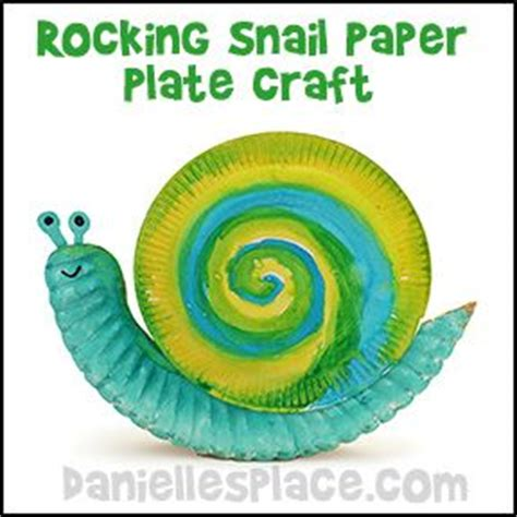 paper plate snail craft rocking snail paper plate craft for from www