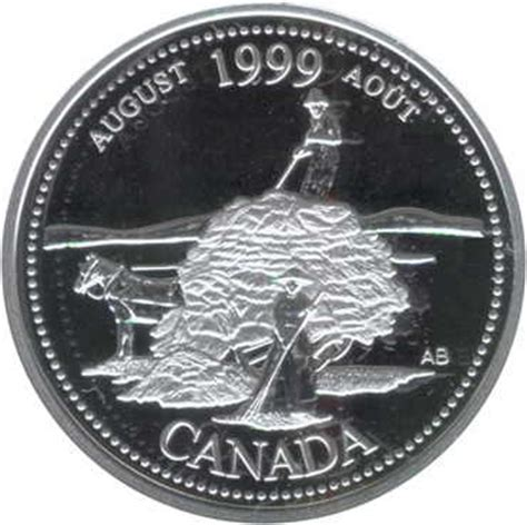 Calendrier 5 Aout 1999 25 Cents Ao 251 T 1999 Argent Canada Numista